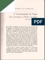 MARGUTTI, Paulo R. a Conceitografia de Frege - Uma Revolução Na História Da Lógica