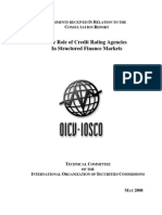 Coments Recived in Relation to the Consultation Report (the Role of Credit...) - IOSCO