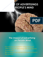 impact of advertising on people mind