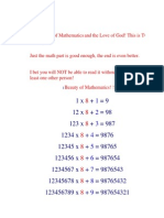 The Beauty of Mathematics and the Love of God