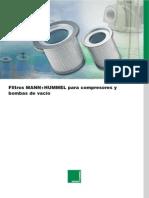 Filtros MANN+HUMMEL para compresores y
