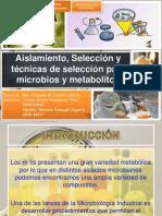 Aislamiento y Seleccion de Microorganismos . Continuala