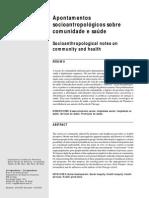 Apontamentos Socioantropológicos Sobre Comunidade e Saúde