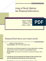 Pricing Derivatives Feb 2011
