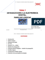 Tema 7. Introduccion a La Electronic A Digital Familias Logicas