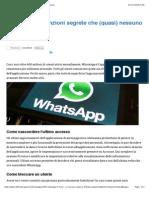 WhatsApp, Le Funzioni Segrete Che (Quasi) Nessuno Conosce