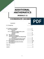 2.11) Add Math Module 11 (Coordinate Geometry)