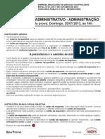 Ebserh 103 Analista Administração