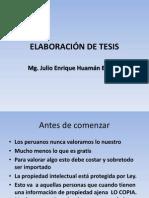 Elaboración de Tesis i
