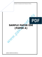 Sample Paper Ese Paper A