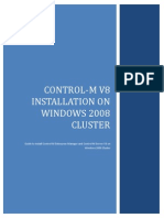 Control-m v8 Installation on Windows 2008 Cluster