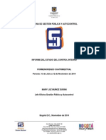 Informe del Estado de Control Interno Jul a Nov 2014