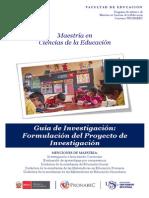 Guía de Formulación Del Proyecto de Investigación 2014