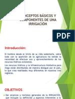 conceptos básicos y componentes de una irrigacion