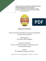 Tesis Doctoral. Sistema Electoral en Honduras. Claves Para Profundizar La Representación Política