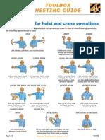 TG07-29 Hand Signals for Hoist and Crane Operators