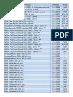 Shop - Sheet Materials