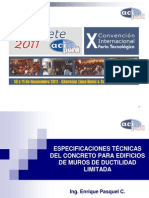 Enrique Pasquel - Especificaciones Tecnicas Del Concreto Para Edificios