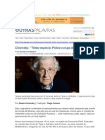 Chomsky_Triste Espécie_Pobre Coruja de Minerva