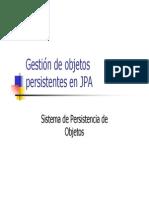 3. Gestion de Objetos Persistentes en JPA
