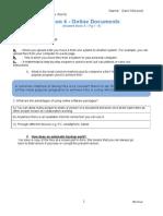 lesson 4 online documents