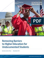 Removing Barriers to Higher Education for Undocumented Students