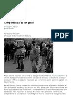 A Importância de Ser Gentil « Blog Da Companhia Das Letras