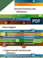 Ragam Genetik Dominan Dan Hibridisasi