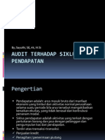 4. Audit Terhadap Siklus Pendapatan
