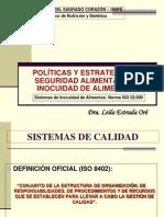 Sistemas de Inocuidad de Alimentos. Norma ISO 22000