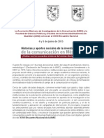 Convocatoria Encuentro Nacional AMIC 2015