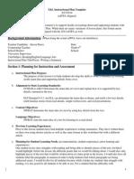 413 language objectives lesson plan