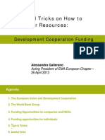 Development Cooperation Funding