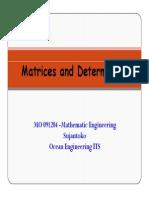 1 Matrices and Determinants Sjk