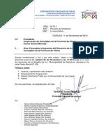 Ord. Nº 11 Presidente a Directiva de La Corporación Citación a Reunión Ordinaria
