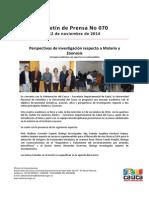 Boletin 070_ Perspectivas de Investigación Respecto a Malaria y Zoonosis