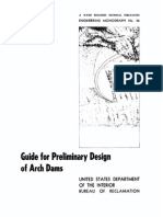 US Bureau of Reclamation - Guide for Preliminary Design of Arch Dams