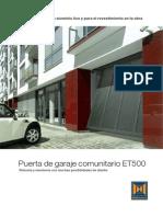 Puerta de garaje comunitario ET500