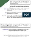 measuring abiotic  components