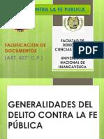 Exposicion Falsificacion de Documentos Derecho Penal IV Parte Especial