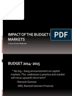 Impact of the Budget on Markets 2014