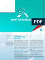 Research Evaluation Guidelines 3 How to Evaluate