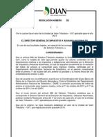 Proyecto de Resolución UVT 2015