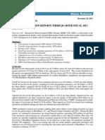 Q3 FY2013 Press Release