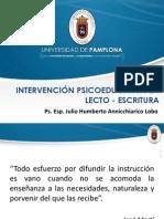 Intervención Piscoeducativa en Lecto Escritura