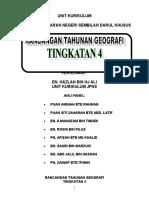 Rancangan Tahunan Geografi T4