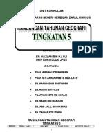 Rancangan Tahunan Geografi T5