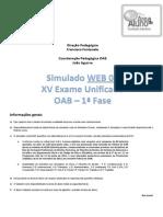 Simulado Tradicional 1ª Fase OAB