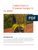 As Ebola Takes Lives in Liberia, It Leaves Hunger in Its Wake
