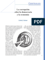 La corrupción sobre la democracia y la economía (Bien Común 235)